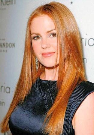 Светло рыжие оттенки волос