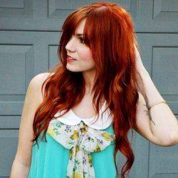 Темно-оранжевый цвет волос