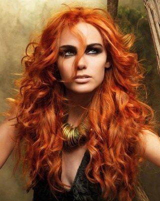 медно-рыжий цвет волос фото