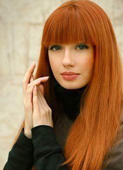 светло рыжий цвет волос фото