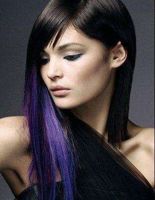 Покрасить волосы в цвет черный