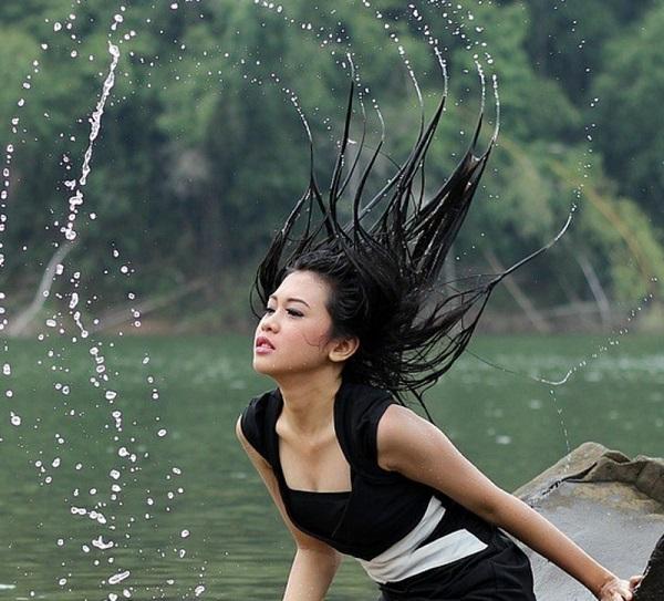 черный цвет волос фото