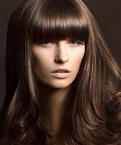 темно-каштановый цвет волос фото